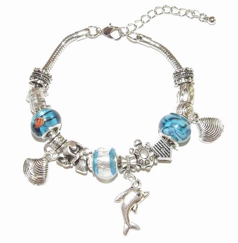 Armband Pandora 21950 | Pandora stijl armband turquoise