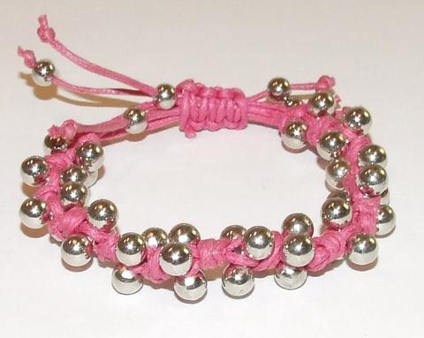 Armband roze 22301   Armband hard roze helemaal hot!