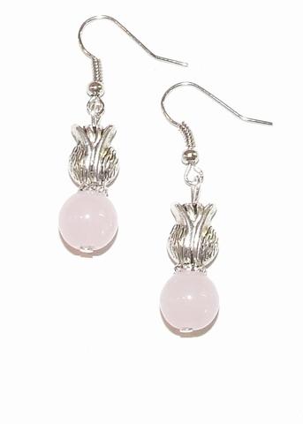 Oorbellen roze 1529 | Licht roze tulp oorbellen