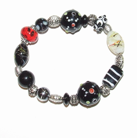 Armband glaskralen 1730 | Multi colour armband glaskralen