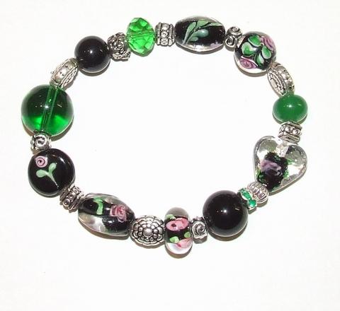 Armband glaskralen 1465 | Multi colour armband glaskralen