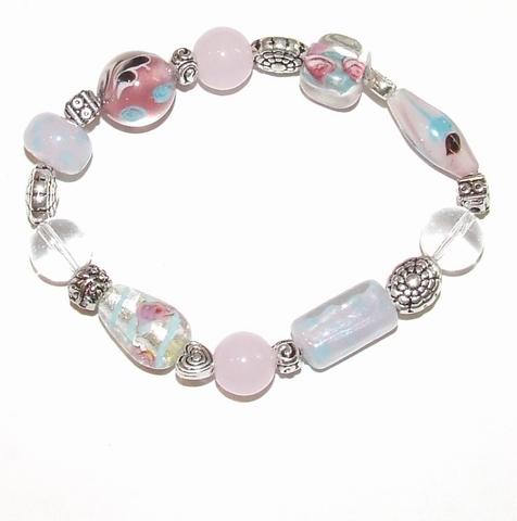 Armband glaskralen 1400 | Multi colour armband glaskralen
