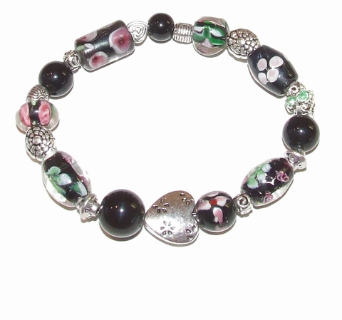 Armband glaskralen 1460 | Multi colour armband glaskralen