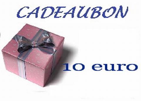 Cadeubon ter waarde van 10 euro