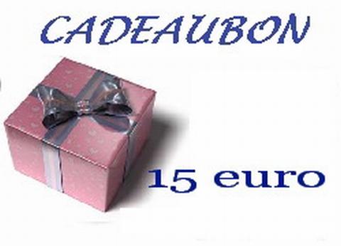Cadeubon ter waarde van 15 euro