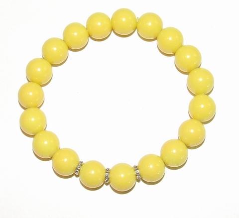 Armband geel 9512 | Gele armband glaskralen