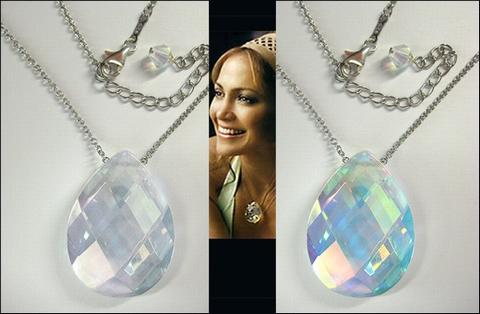 Zilveren Crystal Stone ketting