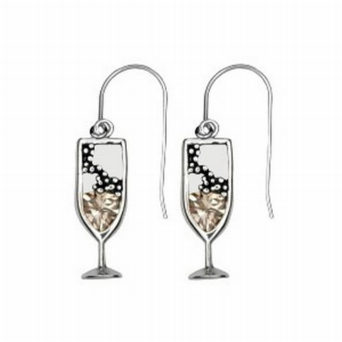 Champagne Cocktail oorbellen