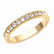 Ringband met cz diamantjes