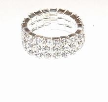 Schitterende ring met strass steentjes