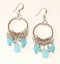 Oorbellen turquoise 90330 | Trendy oorbellen turquoise
