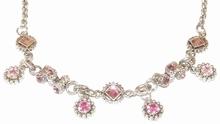 Ketting roze 22557 | Otazu-look ketting met strass roze