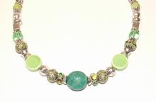 Ketting groen 33441 | Ketting met groene natuursteen