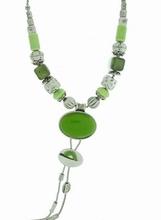 Ketting limegroen 6785 | Ketting met lime groene natuursteen