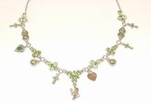 Ketting groen 44903 | Vrolijke groene strass ketting