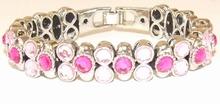 Armband Josh 50021 | Josh stijl armband licht/donker roze