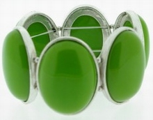 Armband lime groen 6786   Armband lime groene natuurstenen