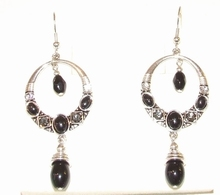 Oorbellen zwart 0253 | Prachtige zwarte oorbellen