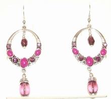 Oorbellen roze/paars 0254 | Oorbellen roze/paars