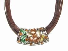 Ketting bruin amulet 67766 | Bruine amulet ketting