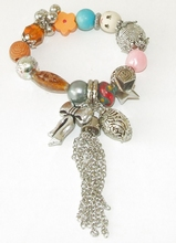 Armband bedels 7890 | Trendy armband met bedels multi colour