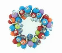 Armband multi colour 65190 | Armband met kralen multi colour