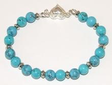 Armband Turkoois 26001 | Armband edelstenen/metaal