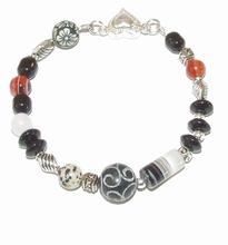 Armband edelsteen 66202 | Armband edelsteen/glas/metaal