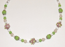Ketting multi colour 35170 | Trendy ketting glas/metaal