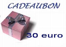 Cadeubon ter waarde van 30 euro