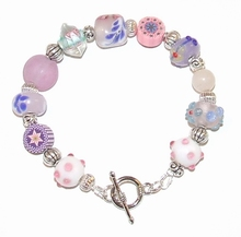 Armband 95168 | Armband glaskralen multi colour