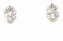 Oorbellen strass 39140 | Ovale oorbellen heldere strass
