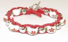 Armband Pandora 3312 | Armband Pandora stijl glaskralen rood