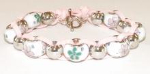 Armband Pandora 22123 | Armband Pandora stijl glaskrale roze
