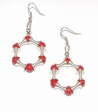 Oorbellen rood 16751 | Handgemaakte rode oorbellen