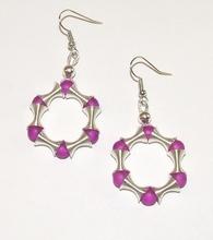 Oorbellen paars 16749 | Handgemaakte paarse oorbellen