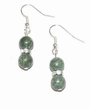 Oorbellen groen 810 | Oorbellen met groene natuurstenen