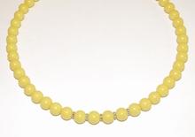 Ketting geel 9513 | Gele ketting glaskralen