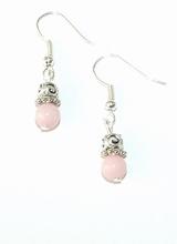 Oorbellen roze 38 | Oorbellen roze halfedelstenen