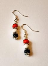 Koningsdag oorbellen rood wit blauw 439 | Oorbellen multi