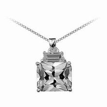 Zilveren ketting met Clear Diva hangertje